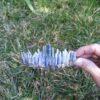 Tiara de Cristal Laminas de Cianita Azul